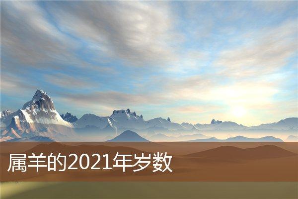 属羊的2021年岁数